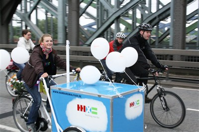 Hamburg mal fair-Aktionsfahrrad