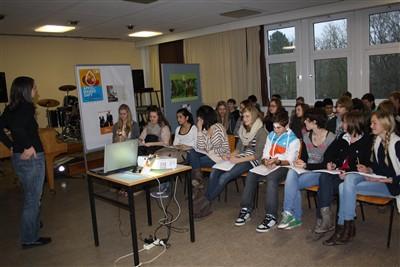 Christiane Baum, hamburg mal fair Workshop am Gymnasium Heidberg