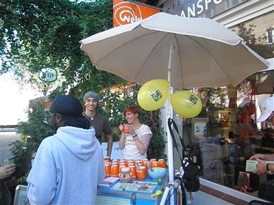 Faires Kaffeetrinken am hmf-Aktionsrad