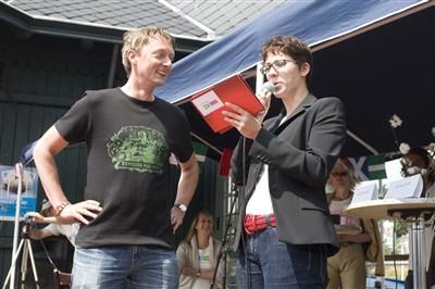 Sieghard Wilm und Nina George