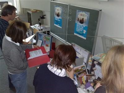 Fortbildung im Landesinstitut für Leherbildung zum Thema baumwolle vom Aktionsbündnis hamburg mal fair.